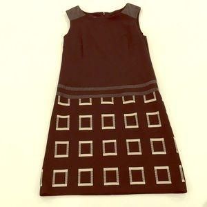 Black leather detail dress by Nine West!